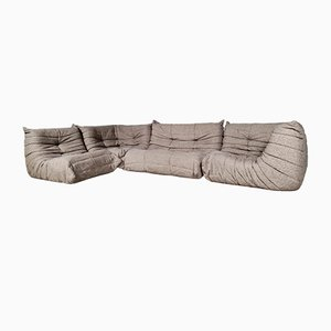 Togo Sofa in Original Wool Fabric by Michel Ducaroy for Ligne Roset, 1970s