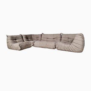 Togo Sofa mit Original Wollbezug von Michel Ducaroy für Ligne Roset, 1970er