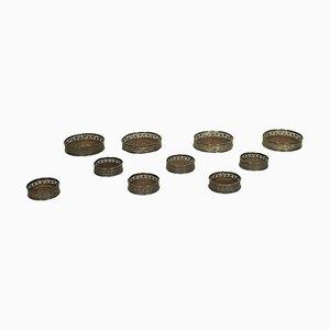 Set di sottobicchieri lombardi in argento