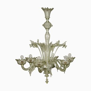 Blown Murano Glass Chandelier, Italy, Early-20th Century