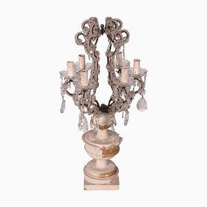 Portacandela a 6 luci con base a forma di vaso