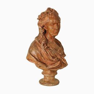 Busto di Madame Du Barry in terracotta