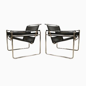 Vintage Wassily Armchairs by Marcel Breuer for Fasem, Set of 2