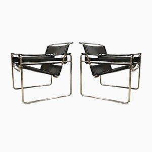 Vintage Wassily Armlehnstühle von Marcel Breuer für Fasem, 2er Set