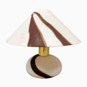 Vintage Tischlampe aus Zweifarbigem Murano Glas