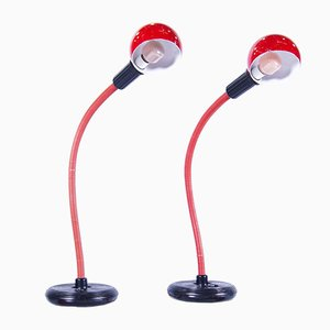 Hebi Tischlampen von Isao Hosoe für Valenti, 2er Set