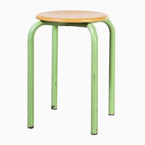 French Stacking School Stools, 1960s, Set of 24