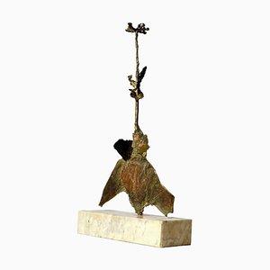 Bronze Blumen Skulptur auf Marmorsockel