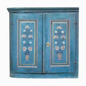 Mid-19th Century Swedish Folk Art Painted Inspired Cupboard