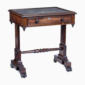 Early-19th Century Regency Palisander Painted Slate Top Side Table