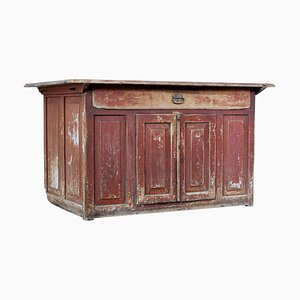 Early-19th Century Swedish Painted Pine Kitchen Cupboard