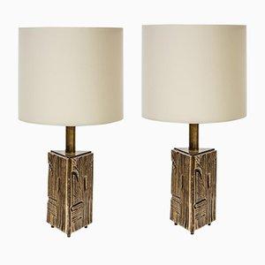 Italienische Tischlampen von Luciano Frigerio, 1960er, 2er Set