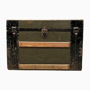 Caja de viaje estadounidense con trineos de madera