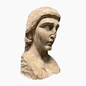 Carved Bust of a Woman