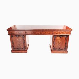 Antikes viktorianisches Sideboard aus geschnitztem Mahagoni