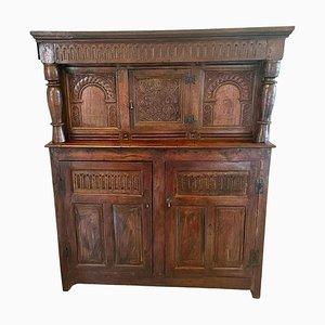 Antique 17th-Century Carved Oak Court Cupboard