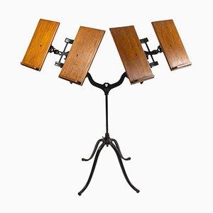 Atril doble de hierro fundido y madera