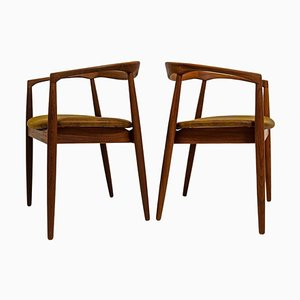 Mid-Century Solid Teak Troja Armchairs by Kai Kristiansen, 1960s, Set of 2
