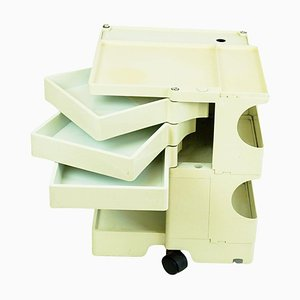 White Plastic Boby 3 Trolley by Joe Colombo for Bieffeplast, Italy, 1970s