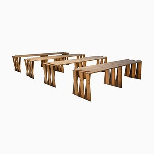 Dutch Pine Modular Puzzle Dining Table