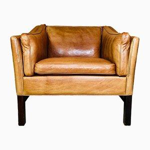 Dänischer Mid-Century Sessel aus Cognacfarbenem Leder von Grant Mobelfabrik