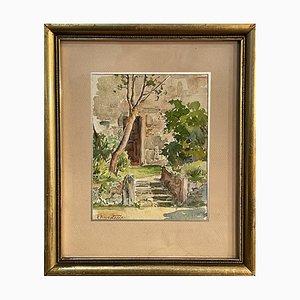 Moscatelli, Exterior Scene, 20th Century, Watercolor