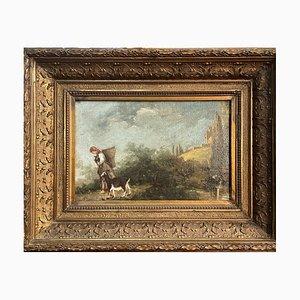 Shepherd, neapolitanische Schule, 1800er, Öl auf Leinwand