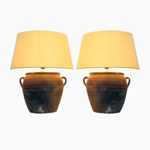 Vintage Keramiklampen, 2er Set