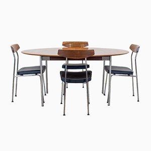Mesa de comedor S Range de teca con sillas de John & Sylvia Reid para Stag, años 50. Juego de 5