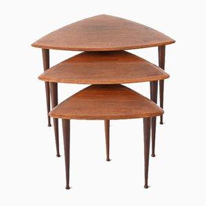 Teak Wood Nesting Tables from Selig, Denmark, 1960s, Set of 3
