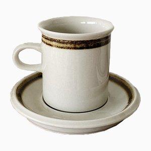 Mid-Century Ceramic Wärtsilä Karelia Coffee Service from Arabia Finland, 1970s, Set of 4