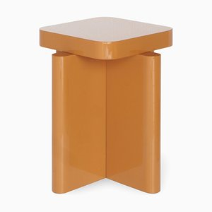 Caramel Spina Lacquered Side Table by Caradavide for Portego