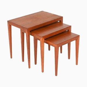 Model 163 Nesting Tables by Severin Hansen for Haslev Møbelsnedkeri, Denmark, 1960s, Set of 3