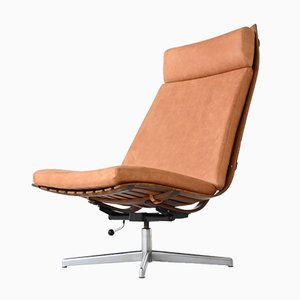 Scandia Swivel Lounge Chair by Hans Brattrud for Hove Møbler, Norway, 1957