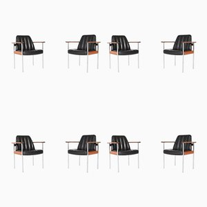 Armchairs by Sven Ivar Dysthe for Dokka Møbler, Norway, 1960s, Set of 8