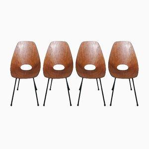Esszimmerstühle von Vittorio Nobili für Fratelli Tagliabue, 1950er, 4er Set