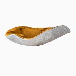 Cucharas Indulge Nº1 de porcelana dorada de Sarah-Linda Forrer. Juego de 4