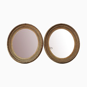 Large Gilt Overmantel or Wall Mirrors, 19th Century, Set of 2