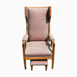 Art Deco Wingback Chair in the style of Gustave Serrurier-Bovy