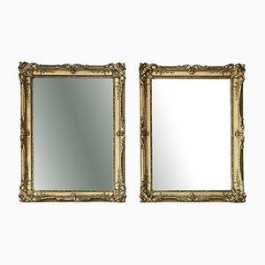 Große vergoldete Spiegel, 19. Jh., 2er Set