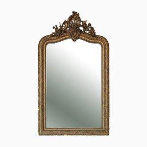 Großer vergoldeter Overmantel oder Wandspiegel, spätes 19. Jh