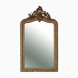 Large Gilt Overmantel or Wall Mirror, Late 19th Century