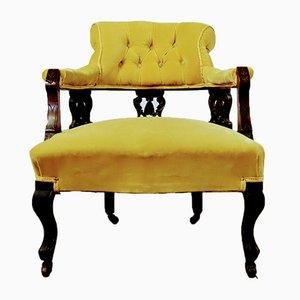 Antique Victorian Open Armchair, 1890s
