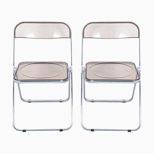 Plia Folding Chairs by Giancarlo Piretti for Castelli, Set of 2