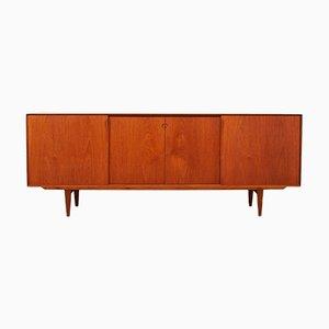 Sideboard in Solid Teak & Teak Veneer with Adjustable Shelves by Henry Rosengren Hansen for Brande Mobelindustri, 1960s
