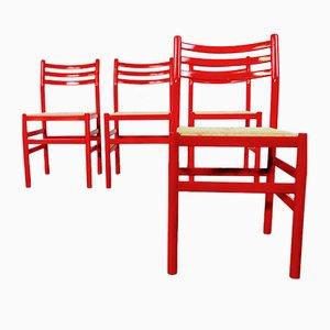 Mid-Century Italian Dining Chairs, 1970s, Set of 4