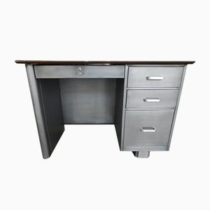All Steel Tanker Desk from Challenger Steel Products, Brooklyn, New York, USA, 1950s