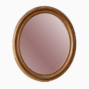 Großer ovaler vergoldeter Spiegel