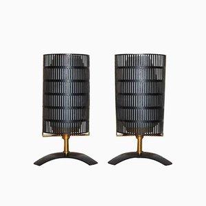 Lámparas de mesa italianas pequeñas de Stilnovo, años 60. Juego de 2