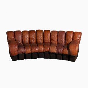 DS 600 Modular Sofa in Cognac Leather by Eleonore Peduzzi Riva for De Sede, Set of 10